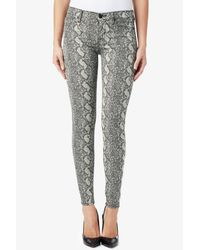Hudson Jeans - Gray Nico Mid-rise Super Skinny - Lyst