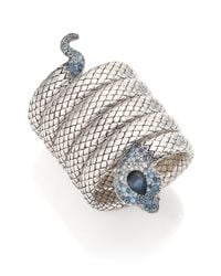 John Hardy | Metallic Legends Cobra Semi-precious Multi-stone, Diamond & Sterling Silver Coil Bracelet | Lyst