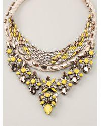 Shourouk - Yellow 'princess Flash' Necklace - Lyst