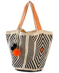 Sophie Anderson - Natural Geometric Pattern Tote Bag - Lyst