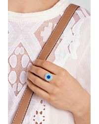 Jennifer Meyer - Blue Evil Eye 18-Karat Gold Turquoise, Lapis Lazuli And Diamond Ring - Lyst