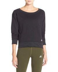 Adidas Originals - Black '24 Seven' Pullover Sweatshirt - Lyst