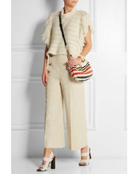 Sonia Rykiel - Red Striped Python And Leather Shoulder Bag - Lyst