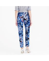 J.Crew - Blue Collection Inky Floral Pant - Lyst