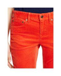 Polo Ralph Lauren | Orange Tompkins Skinny Corduroy Pant | Lyst