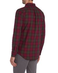 Farah | Purple Milsom Regular Fit Space Dye Check Shirt for Men | Lyst