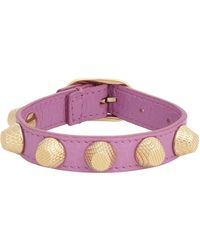 Balenciaga | Pink Arena Giant Stud Bracelet-Colorless | Lyst