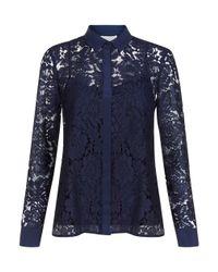 Hobbs - Blue Maddie Lace Shirt - Lyst