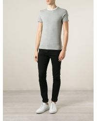 Moncler - Gray Classic T-Shirt for Men - Lyst