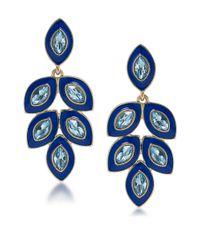 Carolee   Blue Petals Glitz Stone Statement Drop Earrings   Lyst