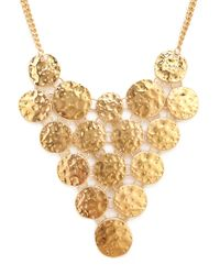 Forever 21 - Metallic Hammered Coin Bib Necklace - Lyst