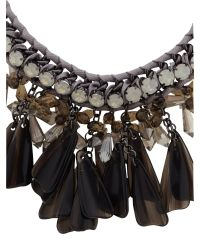 Max Mara - Gray Canasta Short Necklace With Glass Jewels - Lyst