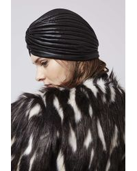 TOPSHOP - Black Metallic Turban - Lyst