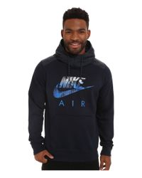 Nike | Blue Aw77 Fleece Hoodie Fabric Mix for Men | Lyst