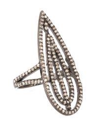 Bavna - Metallic Sterling Silver Champagne Rose Cut Diamond Ring - Lyst