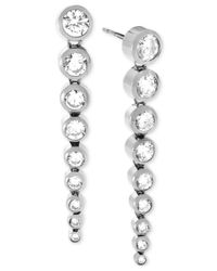 Michael Kors | Metallic Silver-tone Statement Earrings | Lyst