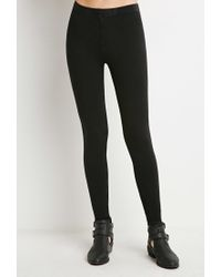 Forever 21 | Black Mineral Wash Leggings | Lyst