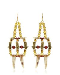 Anita Quansah London | White Midas Earrings | Lyst
