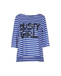 Erika Cavallini Semi Couture | Blue T-shirt | Lyst