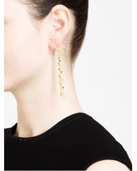 Natasha Collis - Metallic 18Kt Gold And Diamond Waterfall Earrings - Lyst