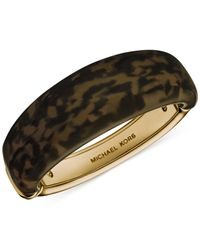 Michael Kors | Metallic Gold-Tone Tortoise Bangle Bracelet | Lyst