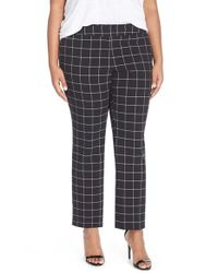 Vince Camuto - Black Windowpane Check Ankle Pants - Lyst