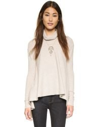 Free People | Natural Drape Tunic - Oatmeal | Lyst