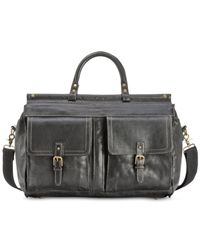 Patricia Nash | Black Nash By Men's Heritage Leather Weekend Duffel | Lyst