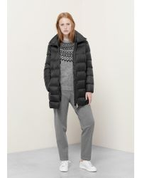 Violeta by Mango | Black Water-repellent Feather Coat | Lyst