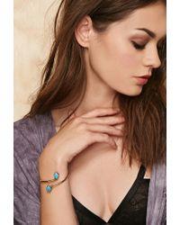 Forever 21 | Blue Sunahara Double Diamond Palm Cuff | Lyst