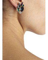Anton Heunis | Multicolor Amethyst And Swarovski Crystal Earrings | Lyst