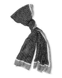 Calvin Klein - Black Lightweight Geometric Logo Scarf - Lyst