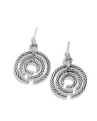 David Yurman | Metallic Willow Round Drop Earrings With Diamonds | Lyst