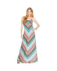 American Rag | Blue Chevron-print Maxi Dress | Lyst