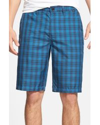 Hurley - Blue 'aliso' Plaid Dri-fit Shorts for Men - Lyst