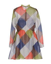 Valentino - Gray Short Dress - Lyst