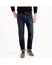 J.Crew | Blue Bootcut Jean In Dark Worn Wash for Men | Lyst