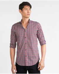 Zara | Red Label Check Shirt for Men | Lyst