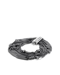 David Yurman - Metallic Sixteen-row Chain Bracelet With Diamonds - Lyst