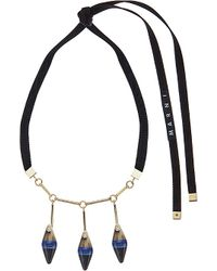 Marni - Blue Gold-plated Horn Necklace - Lyst