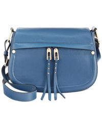 Ivanka Trump | Blue Charlotte Saddle Messenger Bag | Lyst