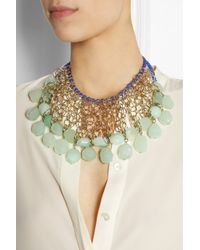 Etro - Blue + V&A Gold-Tone Agate Necklace - Lyst
