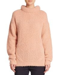 Tibi | Pink Roll-neck Pullover Sweater | Lyst