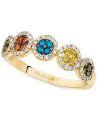 Le Vian | Exotics® Multicolor Diamond Ring (3/8 Ct. T.w.) In 14k Gold | Lyst
