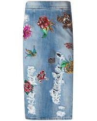 Marco Bologna | Blue Patchwork Denim Skirt | Lyst