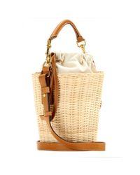 Saint Laurent - Natural Panier Small Bamboo Bucket Bag - Lyst
