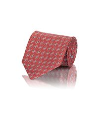 Ferragamo | Red Men's Gancini-print Twill Necktie for Men | Lyst