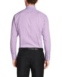 BOSS - Purple 'marley' | Sharp Fit, Cotton Check Dress Shirt for Men - Lyst