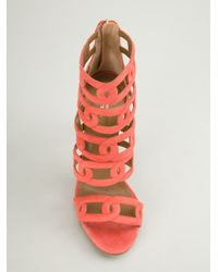 Aquazzura - Yellow 'Chain Me Up' Sandals - Lyst