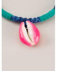 Aurelie Bidermann - Blue Shell Charm Bracelet - Lyst